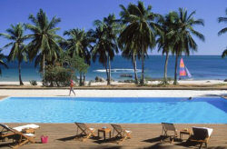 The spacious swimming pool of the Anjajavy Hotel - Madagascar