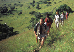 Guided bush walk at Campi ya Kanzi