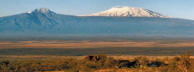 Campi ya Kanzi is situated on the Chyulu Hills overlooking the plains and Mount Kilimanjaro