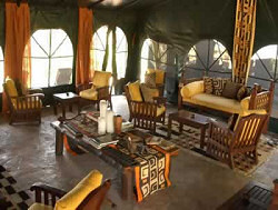 The Lounge of the Ilkeliani Luxury Tented Camp