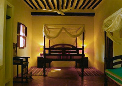 The rooms at Kijani House are designed and furnished in authentic Suahili style