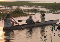 Canoeing at the Lechwe Plains Tented Camp