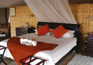 Comfortable rooms at the Lechwe Plains Tented Camp