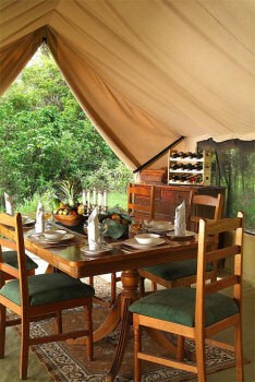 Luxurious Camp interieour providing a comfortable stay at the Leleshwa Camp
