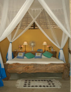 Beautifully designed rooms of the Manda Bay Cottages
