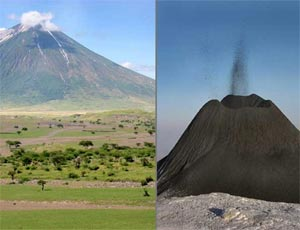 The only active Lengai Volcano in Tanzania