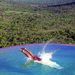 Take a dip in the refreshing pool of the Ol Molo Lodge in Laikipia