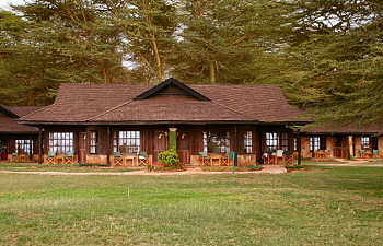 One of the relaxing places you will stay and watch the wildlife from your veranda at the Ol Tukai Lodge