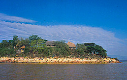 The Samatian Island Chalets are situated on a beautiful island of Lake Baringo