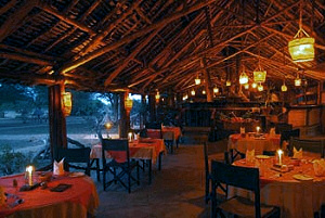 The Lounge / Dining Area of the Satao Camp, Tsavo East