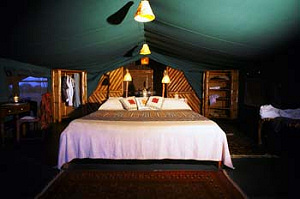 One of the comfortable tents at Satao Camp - Tsavo East