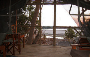 View from inside your room at the Selous Mbega Camp