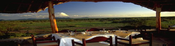View from the dining area of the Severin Safari Camp