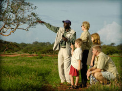 Guided bush-walks at the Sweetwaters Tented Camp