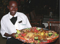 Enjoy our Seafood Platter or well seasoned grilled Lobsters and Prawns, fresh Kingfish and the Red Snapper from the Indian Ocean grilled only with garlic butter, salt and lemon at Yul's Restaurant.